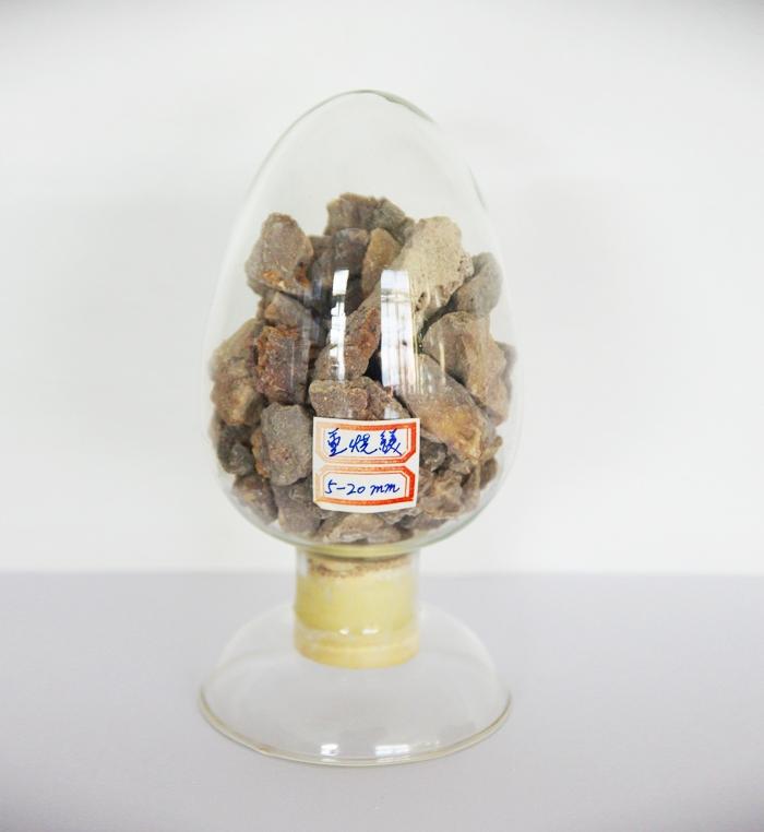 Dead-burned magnesium granules